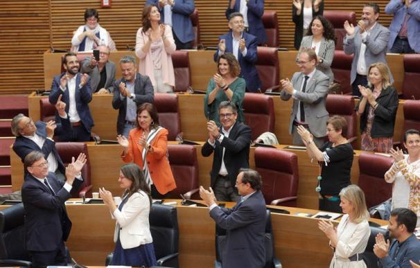 Ximo Puig, tras ser reelegido como presidente de la Generalitat Valenciana
