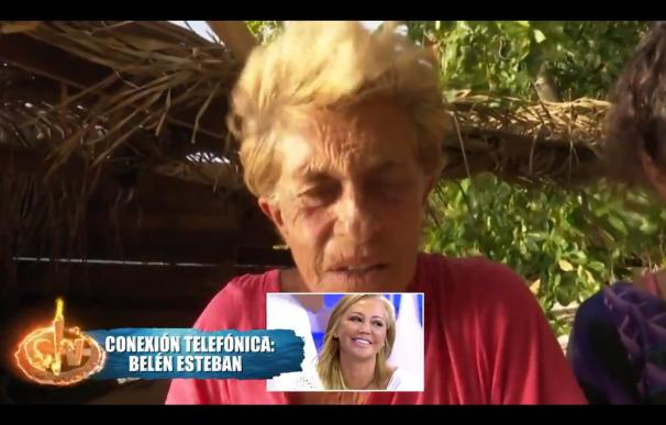Belén Esteban entró en directo en Suprevivientes. / Telecinco