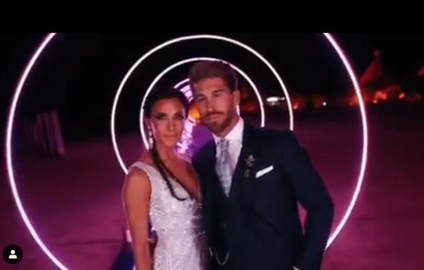 Captura del vídeo resumen de la fiesta de su boda subido a Instagram por la presentadora. /L.I.