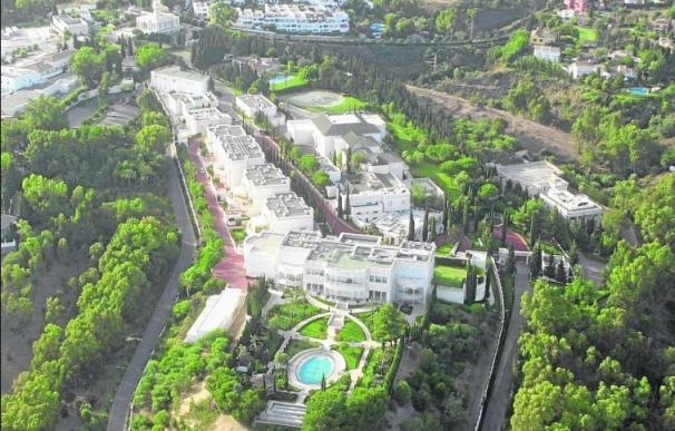 Vista aérea del complejo de la Casa Real Saudí en Marbella.
