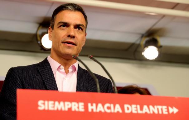 Fotografía Pedro Sánchez, noche electoral 26M / EFE