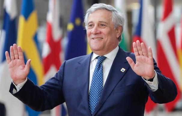 El presidente del Parlamento Europeo, Antonio Tajani, a su llegada a la cumbre del G20