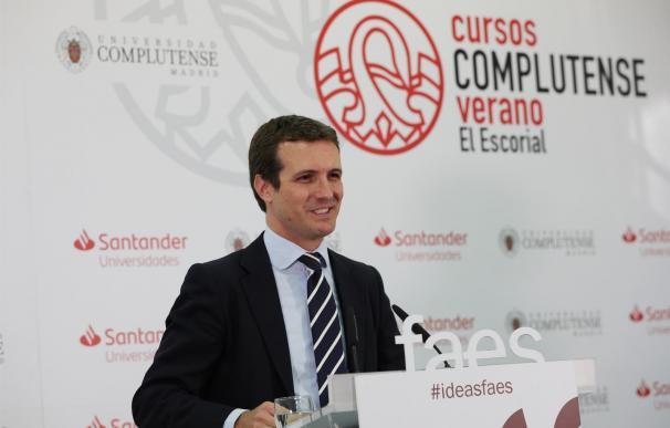 Pablo Casado, cursos El Escorial