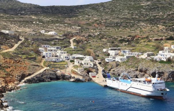 Fotografía de Anticitera, la isla griega que paga a familias que se muden allí.