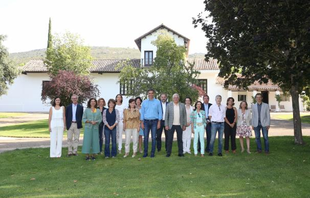 Reunión de Pedro Sánchez con sus ministros en Quintos de Mora