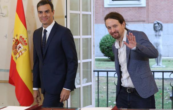Pablo Iglesias y Pedro Sánchez / EFE