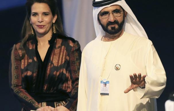El jeque de Dubai y la princesa Haya bint Al Hussein en 2017./ EFE/Archivo