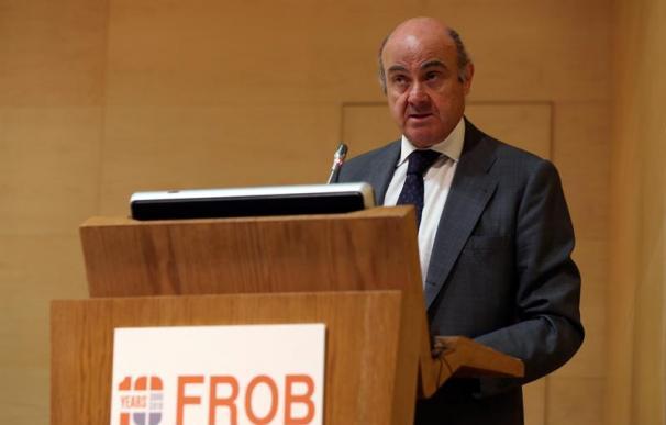 Luis de Guindos, BCE, en el aniversario del Frob