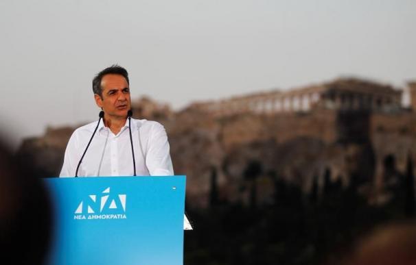 El candidato a la presidencia de Grecia, Mitsotakis. / EFE