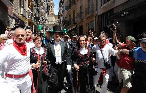 Polémica en la procesión de San Fermín en Pamplona. /David Domench/Europa Press