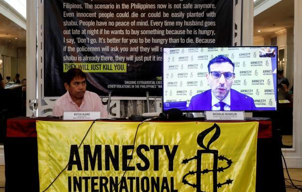 Amnistía Internacional denuncia 27.000 asesinatos de la policía de Filipinas