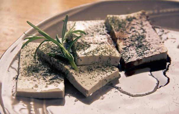 Receta preparada con tofu