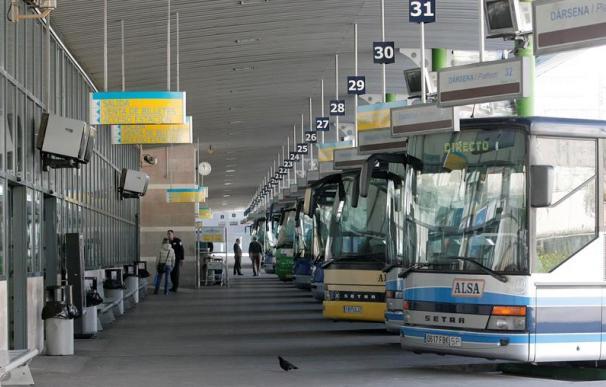 Fotografía autobuses en estación / EFE