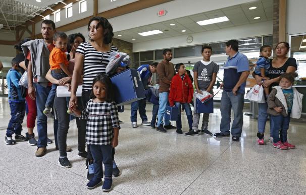 Familias inmigrantes en la frontera de EEUU