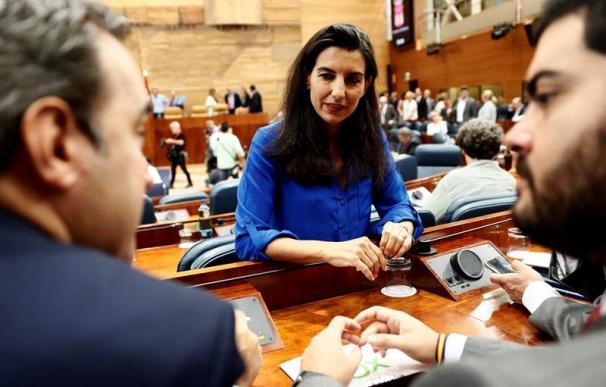 Rocío Monasterio, en la Asamblea de Madrid