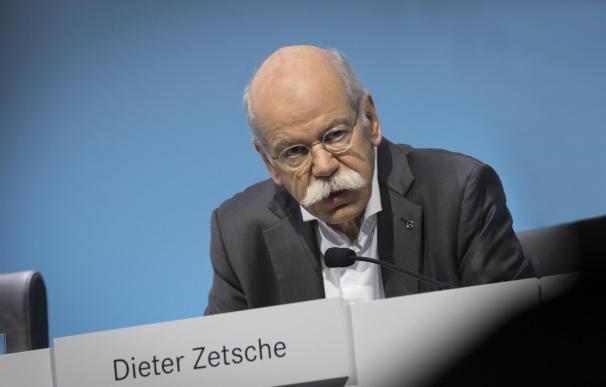 El presidente del grupo automovilístico alemán Daimler, Dieter Zetsche