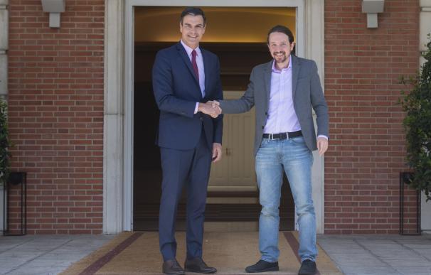 Sánchez e Iglesias este lunes en La Moncloa