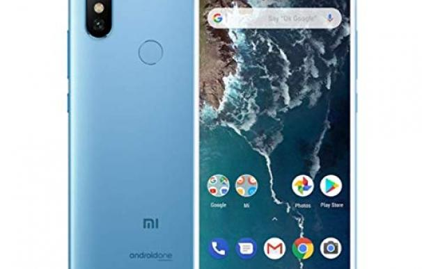 Fotografía del Xiaomi Mi A2 azul.