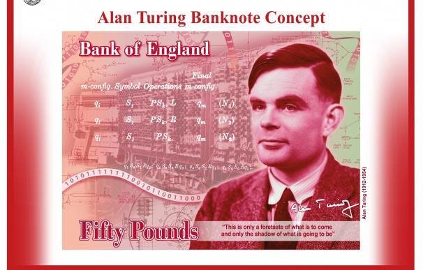 Billete 50 libras de Alan Turing
