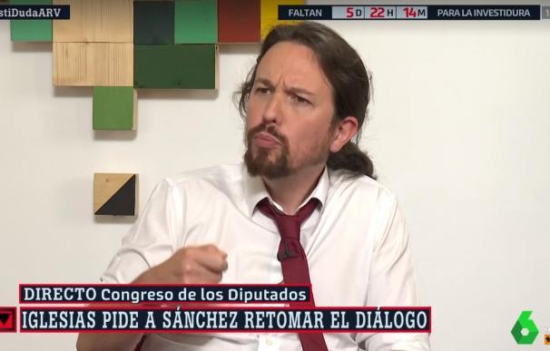 Iglesias emplaza a Sánchez a retomar las negociaciones y critica los vetos del PSOE