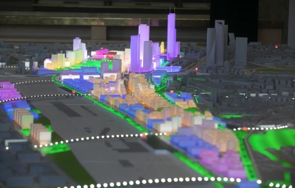 Diseño del proyecto y las conexiones en la maqueta de Madrid Nuevo Norte