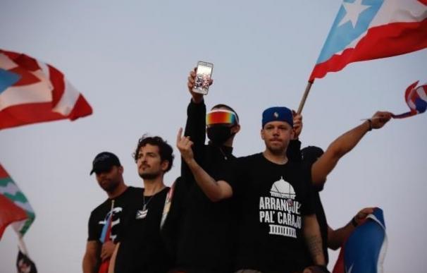 Ricky Martin, Tommy Torres, Bad Bunny y Residente, en las protestas de Puerto Rico