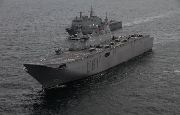 El 'Juan Carlos I', el buque insignia de la Armada más grande de la historia