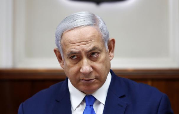 El primer ministro israelí, Benjamin Netanyahu, asiste a la reunión semanal de su gabinete en Jerusalén, el 14 de julio de 2019. /EFE / EPA / RONEN ZVULUN