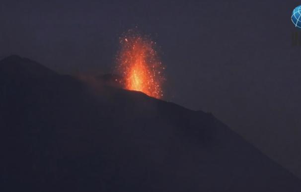 El Etna registra una nueva erupción. /YouTube