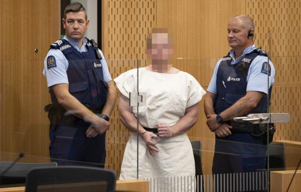 Brenton Harrison Tarrant en el Tribunal de Distrito de Christchurch, Nueva Zelanda, el 16 de marzo de 2019. (EFE/EPA/Martin Hunter)
