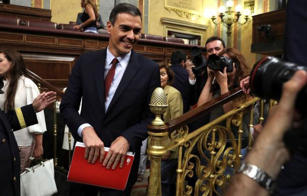 Fotografía Pedro Sánchez, sesión investidura / EFE