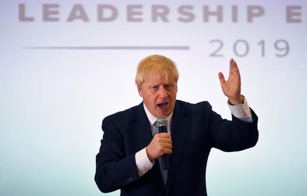Boris Johnson, durante un acto en las primarias 'tories'