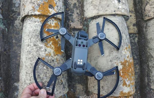 Dron intervenido por la Policía Local