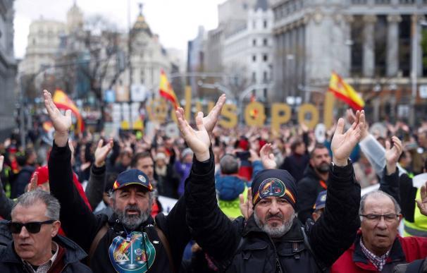 Manifestación de Jusapol en Madrid. /EFE