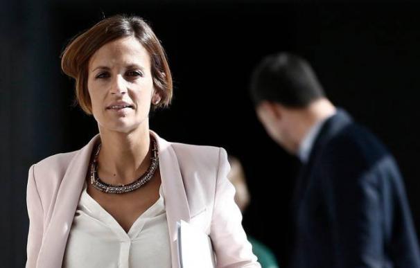 La líder de los socialistas navarros, María Chivite. / Efe