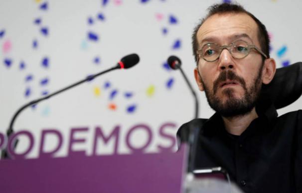 Foto: El portavoz de Podemos Pablo Echenique. (EFE)