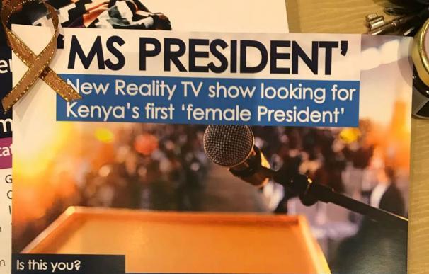 Un panfleto del programa Ms. President