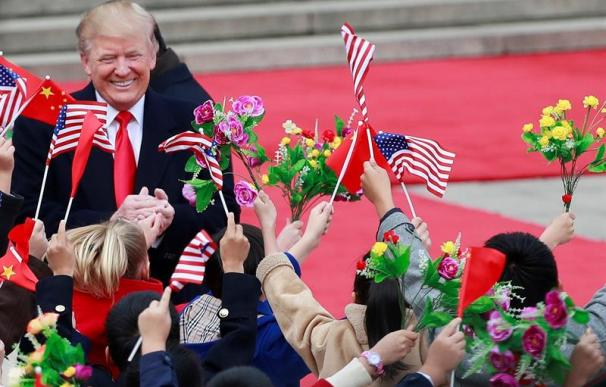 El presidente de Estados Unidos, Donald Trump, en su visita a China