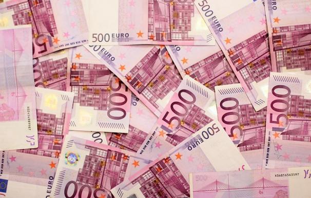 Fotografía de billetes de 500 euros.