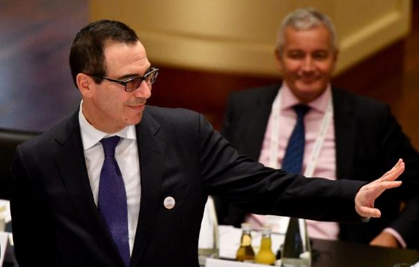 El Secretario de Estado del Tesoro de EEUU, Steven Mnuchin, durante la cumbre del G20.
