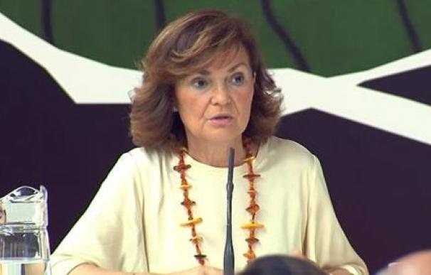 La vicepresidenta del gobierno y ministra de igualdad, Carmen Calvo. / EP