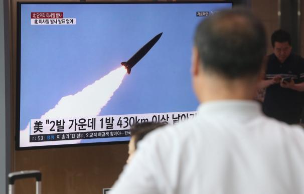 Lanzamiento de dos misiles de corto alcance en Corea del Norte