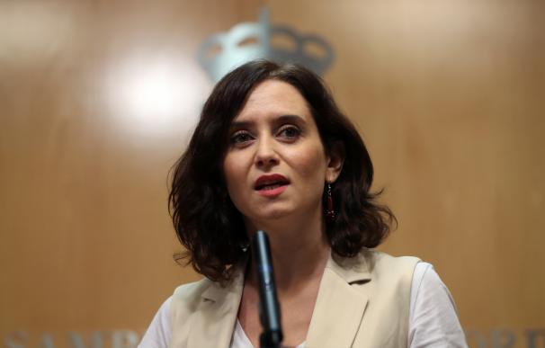 La candidata del PP a la Presidencia de la Comunidad de Madrid, Isabel Díaz Ayuso. /EFE