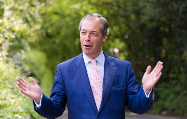 Nigel Farage, líder del Partido del Brexit