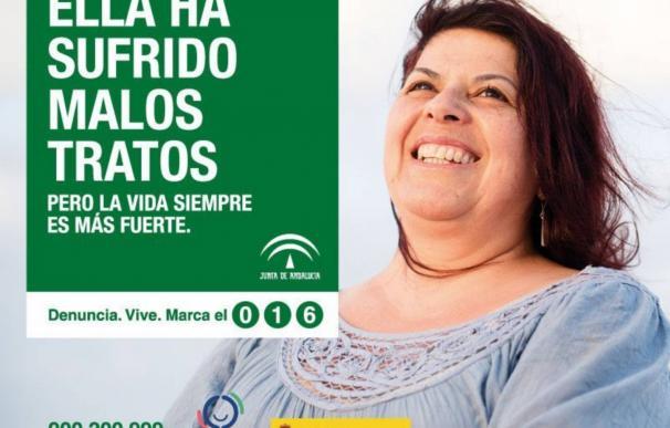 Una de las imágenes de la campaña contra la violencia de género de la Junta de Andalucía. /L.I.