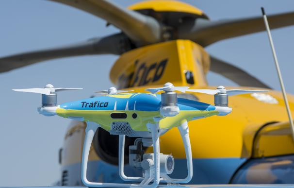Uno de los drones que vigiló a modo de pruebas las carreteras en Semana Santa