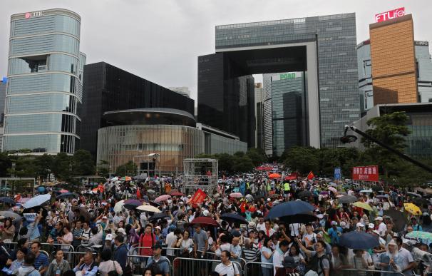 Profesores marchan Hong Kong