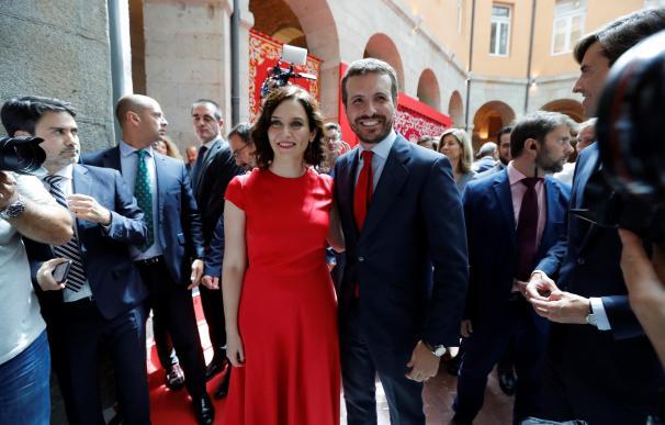 Isabel Díaz Ayuso y Pablo Casado. EFE