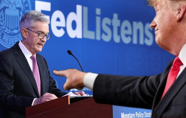 Trump apunta otra vez a Powell.