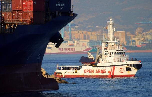 El Open Arms llegando a puerto. /EFE